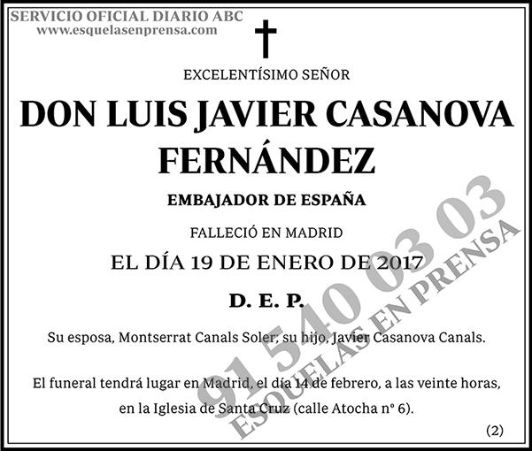 Luis Javier Casanova Fernández